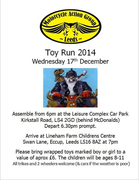 2014 Toy Run Poster